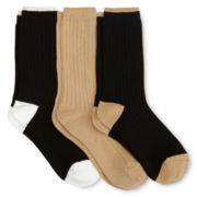 3-pk. Solid Crew Socks
