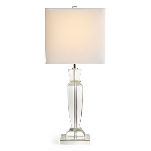 Royal Velvet® Classic Crystal Square Table Lamp