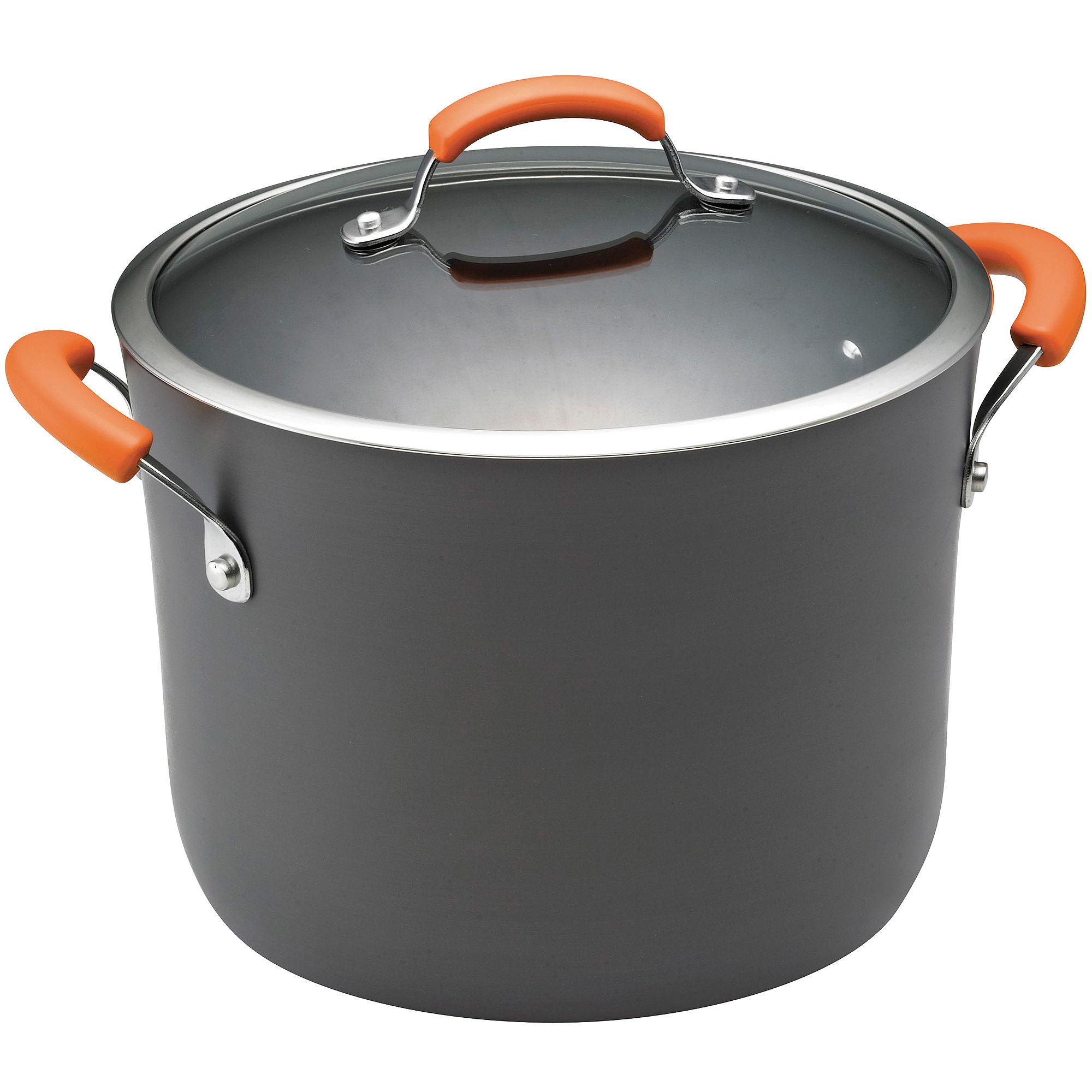 Rachael Ray 10-qt. Hard-Anodized Covered Stock Pot plus size,  plus size fashion plus size appare