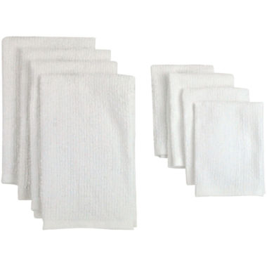 jcpenney.com | Set of 8 Bar Terry Cloth Kitchen Towels