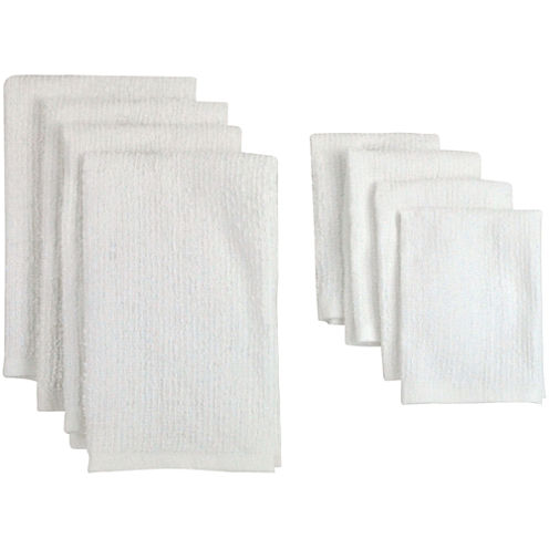 Set of 8 Bar Terry Cloth Kitchen Towels