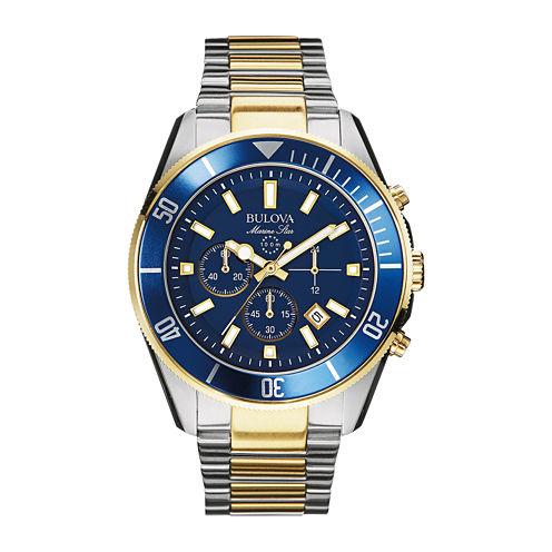 Bulova® Mens Two-Tone Stainless Steel Chronograph Watch 98B230