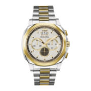 Bulova® Mens Two-Tone Stainless Steel Chronograph Watch 98B232