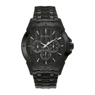 jcpenney.com | Bulova® Mens Black Stainless Steel Watch 98C121