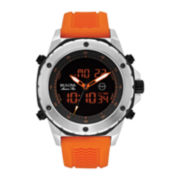 Bulova® Marine Star Mens Orange Silicone Strap Watch 98C118