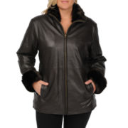 Excelled Leather Car Coat - Plus