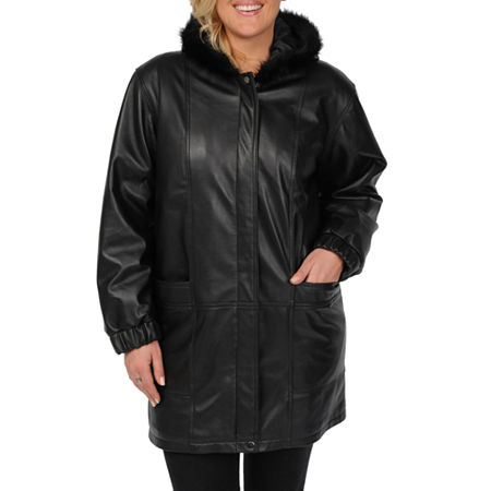 Excelled Leather Walking Coat - Plus