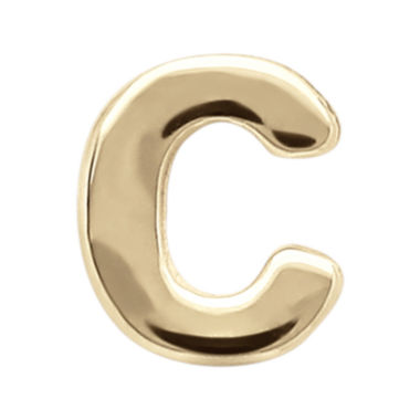 "jcpenney.com | Teeny Tiny® 10K Yellow Gold Initial ""C"" Single Stud Earring"