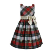 Bonnie Jean® Sleeveless Plaid Taffeta Dress – Girls 7-16