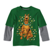 Scooby Doo Long-Sleeve Graphic Knit Tee – Boys 2t-5t