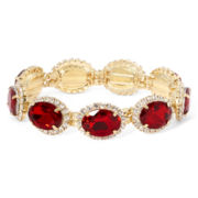 Vieste® Red Stone Stretch Oval Bracelet