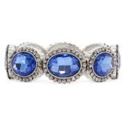 Monet® Silver-Tone Blue Stretch Bracelet