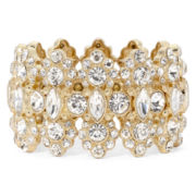Monet® Crystal Gold-Tone Stretch Bracelet