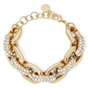 Monet® Crystal Gold-Tone Link Bracelet