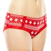 Ambrielle® Natural Comfort® Lace-Trim Hipster Panties