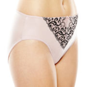 Ambrielle® Tummy Smoothing Embroidered High-Cut Panties