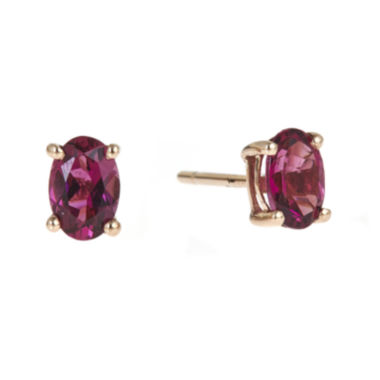jcpenney.com | LIMITED QUANTITIES  Oval Genuine Pink Tourmaline Earrings