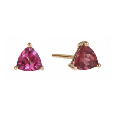 jcpenney.com | LIMITED QUANTITIES  Trillion-Cut Genuine Pink Tourmaline Earrings