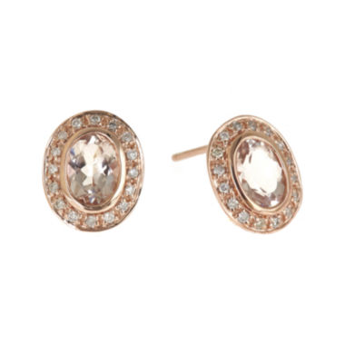 jcpenney.com | LIMITED QUANTITIES Genuine Morganite and 1/5 CT. T.W. Diamond Earrings