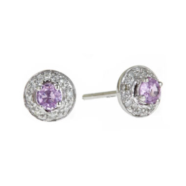 jcpenney.com | LIMITED QUANTITIES  Genuine Pink Sapphire and Diamond-Accent Earrings