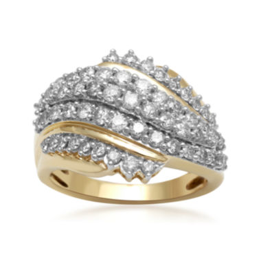 jcpenney.com | 1¼ CT. T.W. Certified Diamond 14K Yellow Gold Swirl Ring