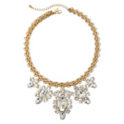 Natasha Crystal Gold-Tone Statement Necklace