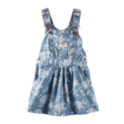 OshKosh B'gosh® Floral Denim Jumper - Baby Girls 3m-24m
