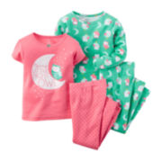 Carter's® 4-pc. Night Owl Pajama Set - Baby Girls newborn-24m