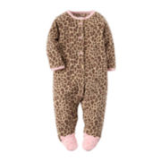 Carter's® Animal-Print Footed Bodysuit - Baby Girls newborn-24m