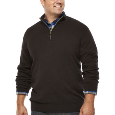 jcpenney.com | The Foundry Supply Co.™ Quarter-Zip Sweater - Big & Tall