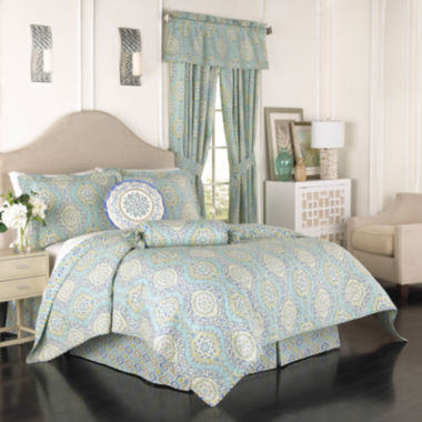 jcpenney.com | Waverly® Moonlight Medallion 4-pc. Reversible Quilt Set