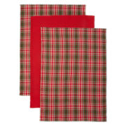 Red Holiday Set of 3 Kitchen Towels