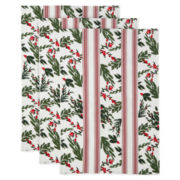Holly Berry Set of 3 Kitchen Towels