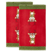 Holiday Reindeer Set of 2 Kitchen Towels