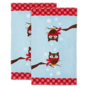 Holiday Owl Set of 2 Kitchen Towels