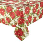 Arlee Poinsettia Sparkle Table Linen Collection