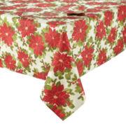 Arlee Poinsettia Sparkle Table Linen Collection