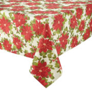Arlee Poinsettia Sparkle Tablecloth