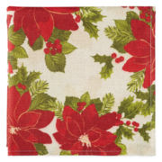 Arlee Poinsettia Sparkle Set of 4 Napkins