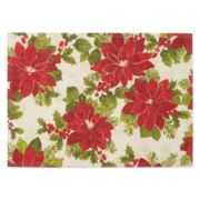 Arlee Poinsettia Sparkle Set of 4 Placemats