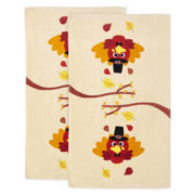 Harvest Turkey Set of 2 Kitchen Towels