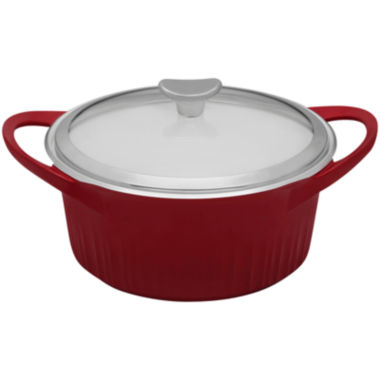 jcpenney.com | CorningWare® French White Cast Aluminum™ 3½-qt. Dutch Oven