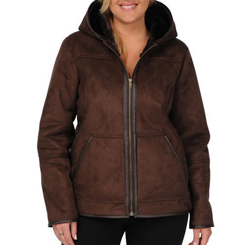 Excelled Faux-Shearling Jacket - Plus