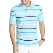 IZOD® Short-Sleeve Feeder-Striped Piqué Polo