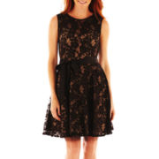 DJ Jaz Ribbon-Waist Lace Dress