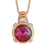 CLOSEOUT! Lab-Created Ruby & Diamond-Accent Pendant