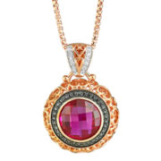 Lab-Created Ruby & Diamond-Accent Pendant