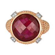 CLOSEOUT! Lab-Created Ruby & Diamond-Accent Ring