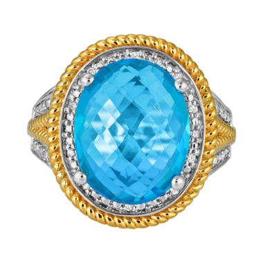jcpenney.com | LIMITED QUANTITIES Lab-Created Blue Topaz & Diamond-Accent Ring