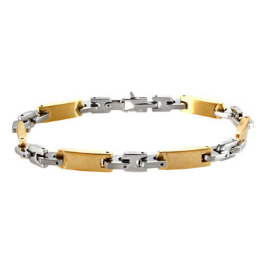 jcpenney.com | Mens Two-Tone Stainless Steel Link Bracelet
